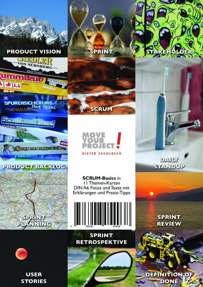 11 Themen-Karten für SCRUM-Basics im Überblick